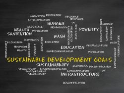 Symbolfoto Wortwolke zu den Sustainable Development Goals der Vereinten Nationen