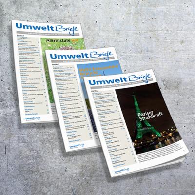 Coverabbildung Zeitschrift UmweltBriefe