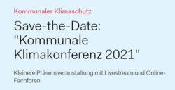 Kommunale Klimakonferenz im November 2021
