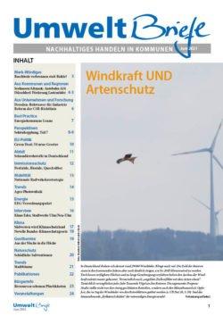 Titelstory der UmweltBriefe im Juni: Windkraft oder Artenschutz? Oder beides?